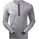 Bergans Henley Wool Shirt Men Grey Melange